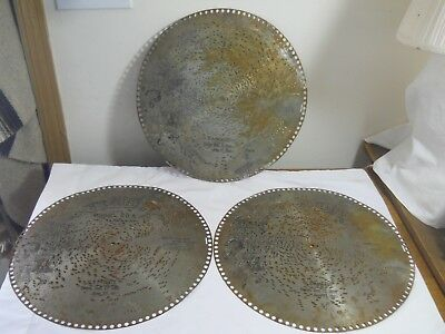 3 Antique Metal Regina Music Box  Disc 1889 Patrol March Stromberg When 2 Little