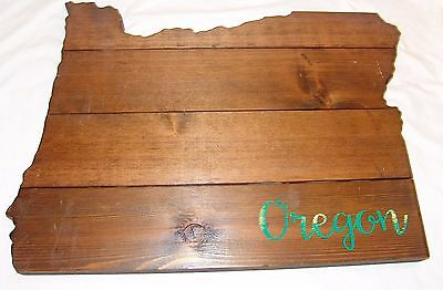 Oregon Large Wood Plaque State Barn Board Wall Hanging Decor Reclaimed Rustic