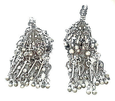 Antique Silver Bawsani filigree earring EARLY 1900'S