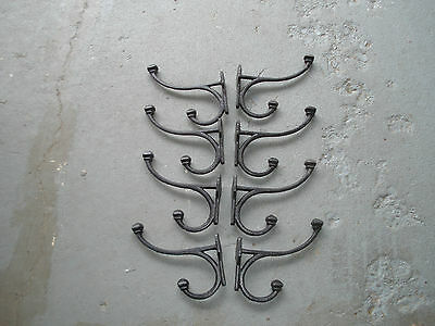Eight New  Victorion Style  Cast Iron Coat Hooks 6'' X 6.5''