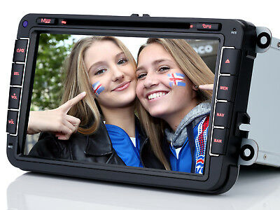 "8"" Autoradio Navigation RDS GPS DVD Bluetooth für VW Golf 5/6 Passat Jetta Skoda"