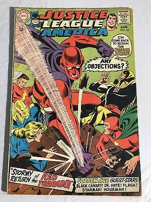 JUSTICE LEAGUE OF AMERICA #64 1st RED TORNADO GD/VG