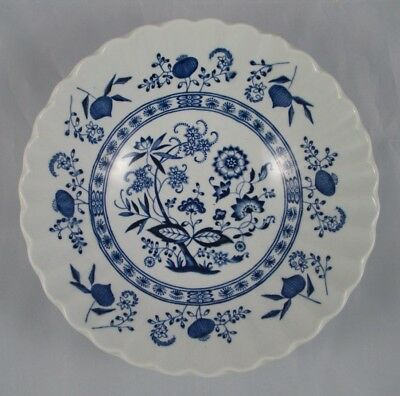J & G Meakin BLUE NORDIC Blue Onion Design Ironstone Swirl Coupe Cereal Bowl EUC