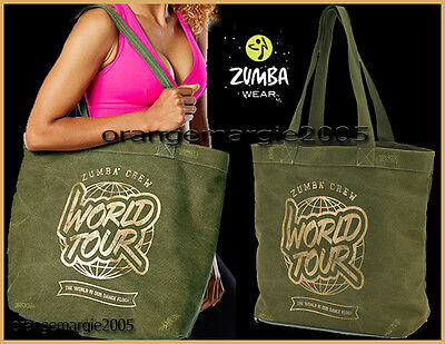 "Zumba Fitness JUMBO Denim 19""W x16""H x7""D TOTE BAG~Gym~Travel~Stylish~DURABLE!"