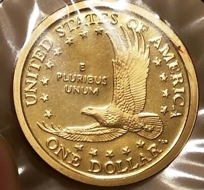 2003-S Proof Sacagawea Struck Thru And Retained Copper Rim Burr Mint Error Coin