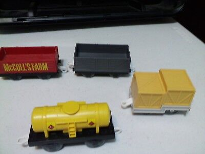 Lot of 4 THOMAS THE TRAIN Cars  Non Motorized  used MCCOLL'S and others