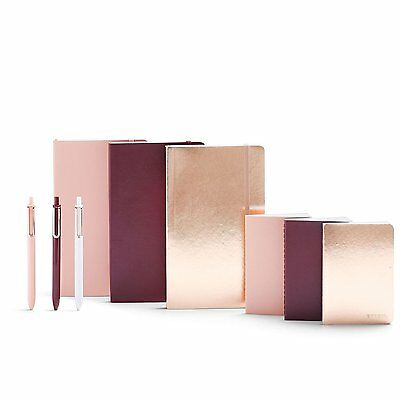 Poppin Shine On Pen + Notebook Set, Blush/Maroon/Copper