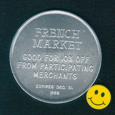 Coca-Cola 1988 New Orleans Christmas Parade - French Market- Free Good For Token