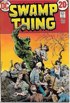 Swamp Thing Comic Book #5 DC Comics 1973 VERY FINE+