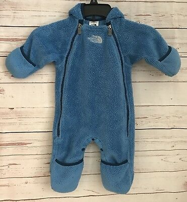 The North Face 3-6 Month Fleece Bunting One Piece Snowsuit Baby Infant Blue