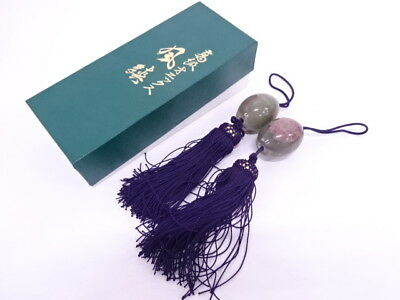 74687# Japanese Fuchin Weight For Hanging Scroll / Agate