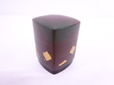 74765# Japanese Tea Ceremony Lacquered Tobacco Container / Gold Foil