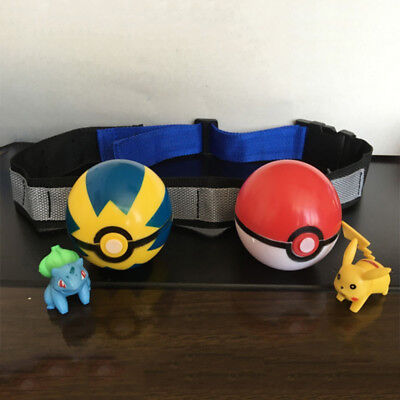 Vogue Pokemon Clip Carry Adjustable Poke Ball Belt Xmas Pretend Play Game Gift