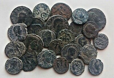 AMAZING Lot of 25 --TOP QUALITY-- Uncleaned  Roman Coins, -- weight 45 Grams!--
