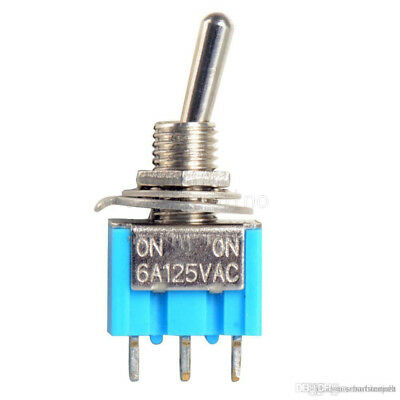 5PCS MTS-102  Mini 6A 125VAC SPDT 3Pin 2 Position On-on Toggle Switches Practic