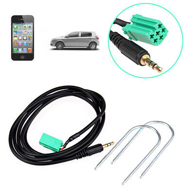 Aux IN Adapter Cable For MP3 iPod iPhone Renault Clio Megane Laguna Scenic+ Keys