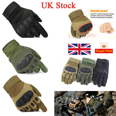 UK Full Finger Tactical Driving Cycling Military Gloves Combat Paintball Hunting