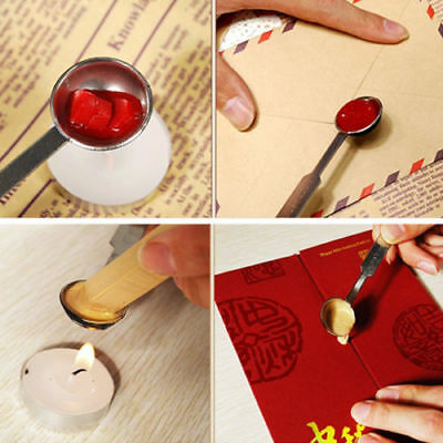 Metal Vintage Custom Stamp Seal Sealing Melted Wax Letters Invitation Wax Spoon