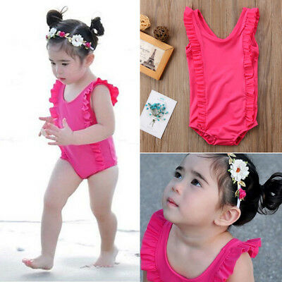 Summer Toddler Baby Girls Kids Swimwear Bikini Swimsuit Bathing Suit Beachwear