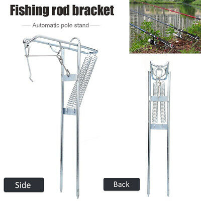 Fishing Rod Stand Holder Automatic Stainless Steel Adjustable Pole Bracket GL