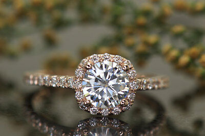 2Ct Round Moissanite 14K White Gold Ring Solitaire Engagement Women's Ring3