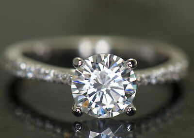 2Ct Round Moissanite 14K White Gold Ring Solitaire Engagement Women's Ring5