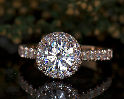 2Ct Round Moissanite 14K White Gold Ring Solitaire Engagement Women's Ring7