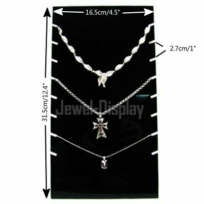 Black Acrylic Slab Board Jewelry Shop Display Necklace Pendant Holder Stand