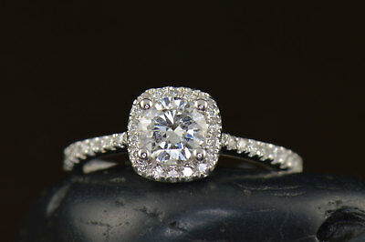 2Ct Round Moissanite 14K White Gold Ring Solitaire Engagement Women's Ring8