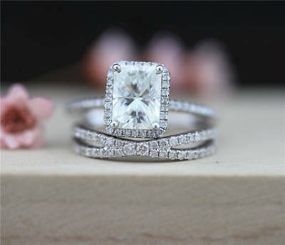 2Ct Round Moissanite 14K White Gold Ring Solitaire Engagement Women's Ring12
