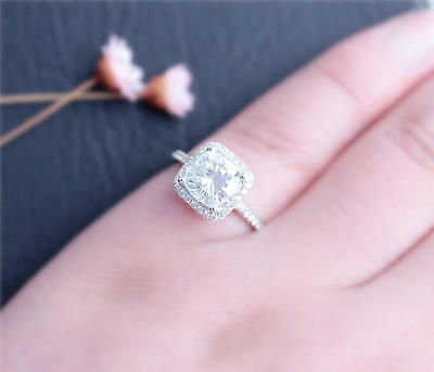 2Ct Round Moissanite 14K White Gold Ring Solitaire Engagement Women's Ring14