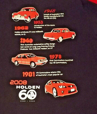 Holden Official 60 Year T Shirt In Great Condition Size S