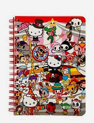 Sanrio New Hello Kitty:Tokidoki K/T Spiral  Notebook 120 Sheets With 2 Designs