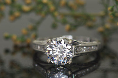 2Ct Round Moissanite 14K White Gold Ring Solitaire Engagement Women's Ring21