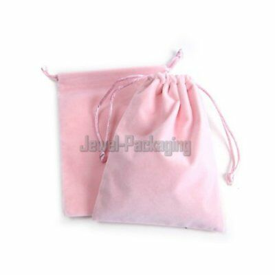 "20 Pink Thick Heavy Velvet Jewelry Pouches Party Gift Bags 4.7"" x 6.2"""