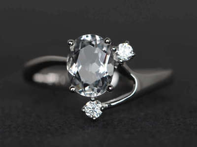 2Ct Round Moissanite 14K White Gold Ring Solitaire Engagement Women's Ring25