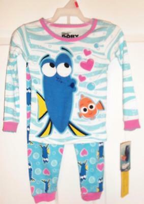 FINDING DORY 2 pc Set Girls Toddler Pajamas Choose Size  2T, 3T, 4T, 5T  NEW
