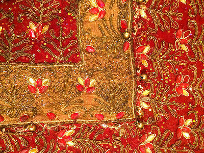 Vintage Heavy Dupatta Antique Women Bridal Long Scarf Embroidered Stole HD1051