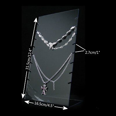 Clear Acrylic Slab Board Jewelry Shop Display Necklace Pendant Holder Stand