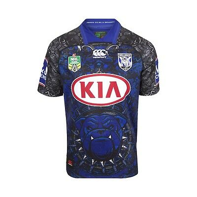 Canterbury Bankstown Bulldogs 2018 'Dogs Of War' Jersey Sizes S - 4XL NRL CCC