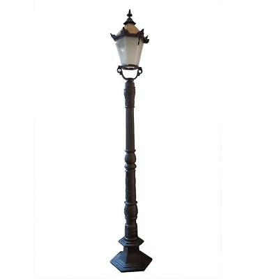 Victorian Inspired CAST IRON Fluted Lamp Post 2.5 M Black Dk Green Garden Light