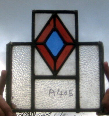 A405    Art  Deco Suncatcher  Stained Glass  window . Ca 1930s