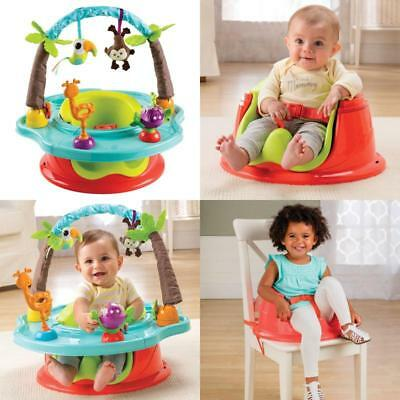 3 Stage Infant Seat  Booster Chair Baby Toddler With Toys Cup Holder Wild Safari