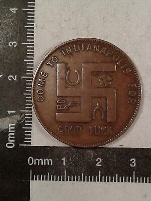 Real Estate Board Token Indianapolis Swastika Good Luck *