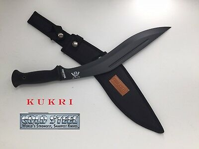 KUKRI Cold Steel Machete / Knife With Sheath black 45cm-CONQUEROR