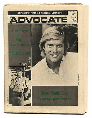 THE ADVOCATE No 115 July 4, 1973 Gay interest magazine/newspaper