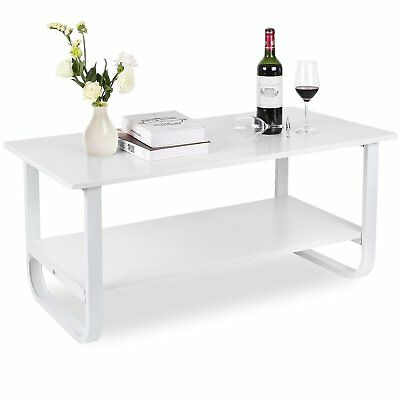 TABLE BASSE SALON Blanc Laque Table Salon Table Basse Rectangulaire ...