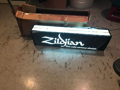 New Old Stock Zildjian Lighted Sign from Music Store - New 2-Sided Drum Cymbal