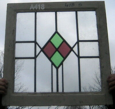 A418  (4)        Stained Glass  window . Ca 1930s (4)