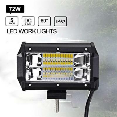 72W SPOT LED Off road Work Light Lamp Car Boat Truck Driving UTE 6000K 12V 24V